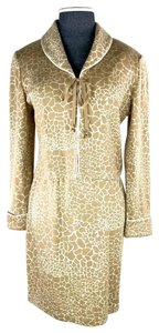St. John St John Collection By Marie Gray Beige Ivory Jacket and Skirt Set