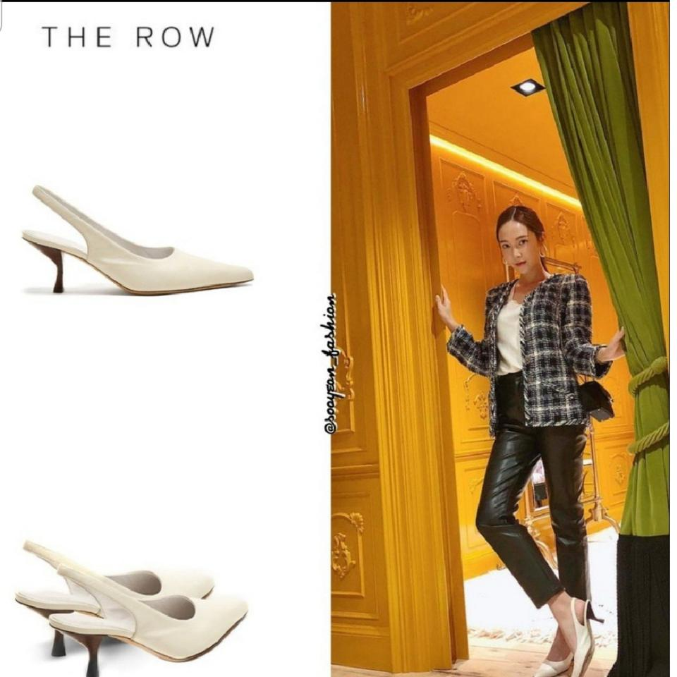 3d4638bccdb The Row White Smooth Leather Bourgeoise Slingback Pumps Mules Slides ...