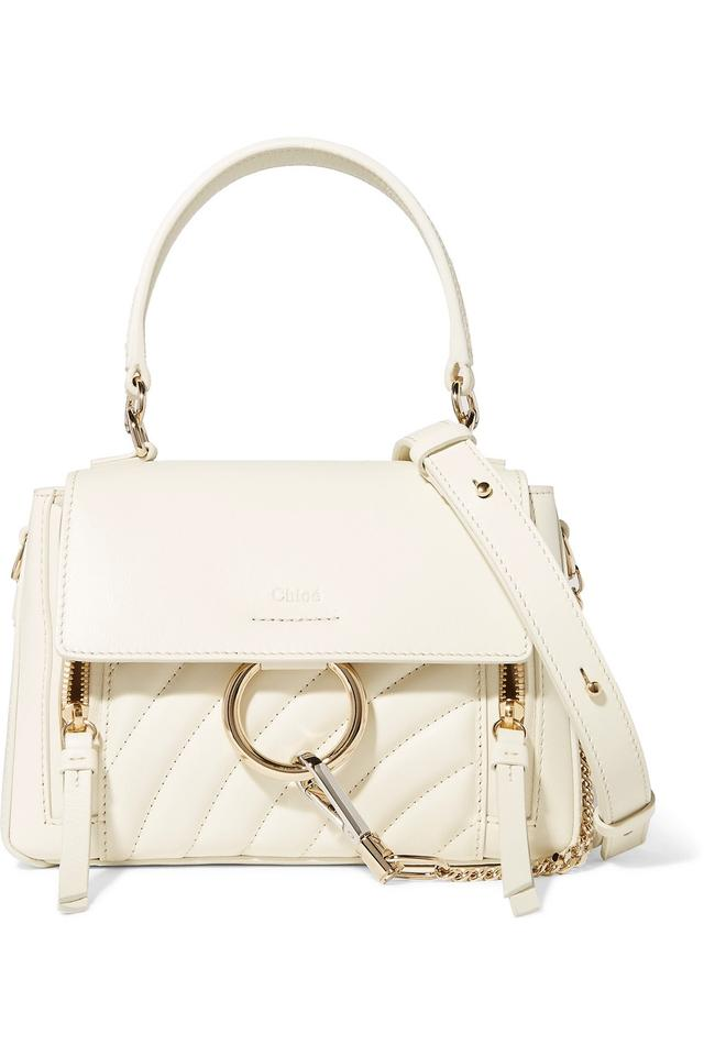 0159fdf5fe Chloé Faye Day Small Quilted Leather Seasonal Pick Smooth & Suede Calfskin  Shoulder Bag