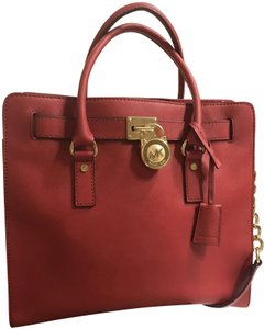 Michael Kors Scarlet Cherry Chili Satchel Tote in Red
