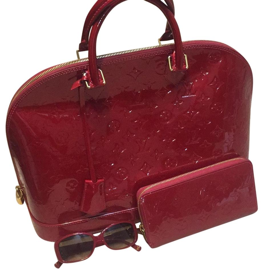 Louis Vuitton Alma Gm Pomme D Amour Red Patent Leather Satchel - Tradesy 28198562f1