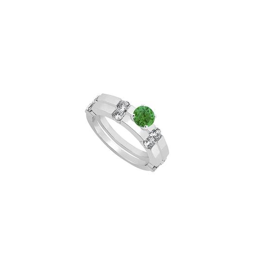 Preload https://img-static.tradesy.com/item/24417219/green-created-emerald-and-cubic-zirconia-engagement-with-wedding-band-ring-0-0-540-540.jpg