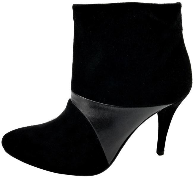Stuart Weitzman Black Suede and Leather Boots/Booties Size US 5.5 Regular (M, B) Stuart Weitzman Black Suede and Leather Boots/Booties Size US 5.5 Regular (M, B) Image 1