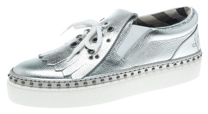 Burberry Leather Silver Flats