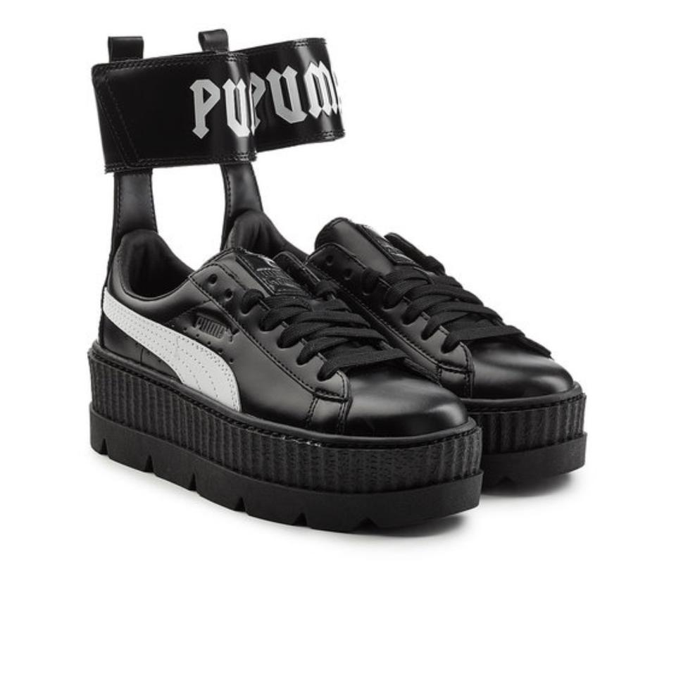 FENTY PUMA by Rihanna Black Midnight Ankle Strap Sneaker Wedges Size US 7 Regular (M, B) 32% off retail
