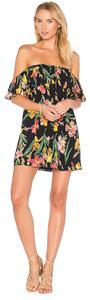 Privacy Please short dress black background with florals on Tradesy