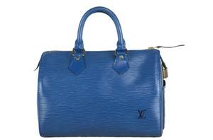 Louis Vuitton Epi Speedy Tote in Blue