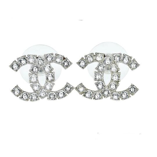 Preload https://img-static.tradesy.com/item/24417543/chanel-silver-mint-condition-b18-tone-crystal-earrings-0-0-540-540.jpg