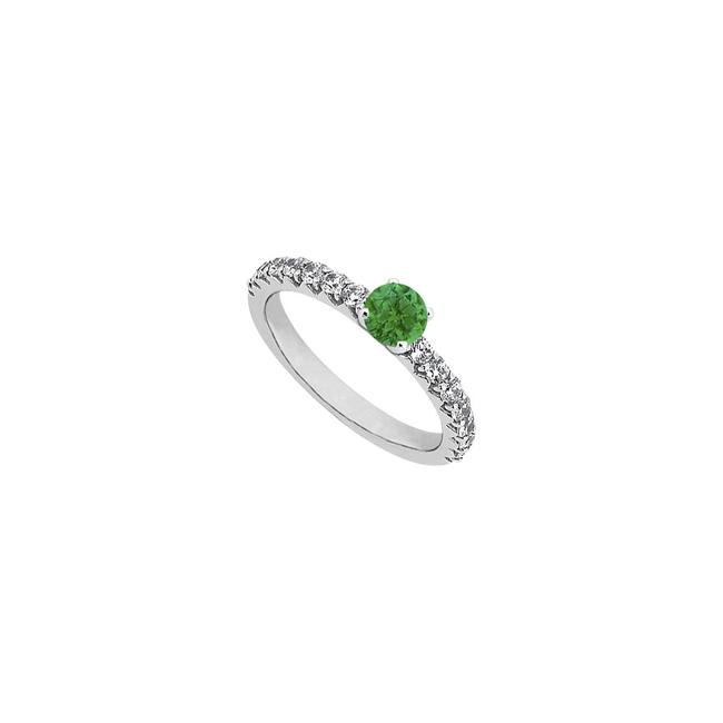 Unbranded Green May Birthstone Created Emerald Cubic Zirconia Engagement In 14k Ring Unbranded Green May Birthstone Created Emerald Cubic Zirconia Engagement In 14k Ring Image 1