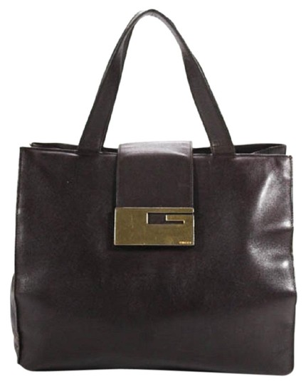Preload https://img-static.tradesy.com/item/24417571/gucci-vintage-satcheltotedesigner-purses-dark-brown-leather-with-gold-square-g-clasp-satchel-0-2-540-540.jpg