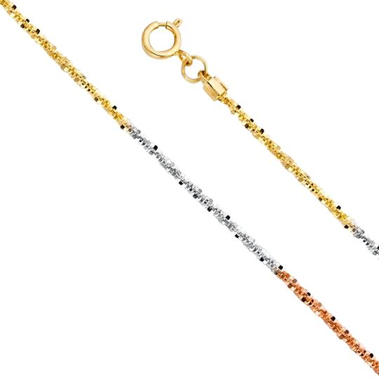 Preload https://img-static.tradesy.com/item/24417593/tri-color-14k-gold-11mm-glitter-chain-18-necklace-0-1-540-540.jpg