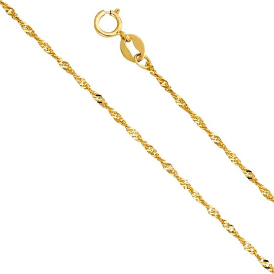 Preload https://img-static.tradesy.com/item/24417649/yellow-14k-gold-12-mm-singapore-chain-16-necklace-0-1-540-540.jpg