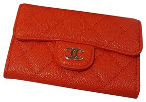 Chanel NEW in the box Classic flap Caviar Quilted card holder wallet