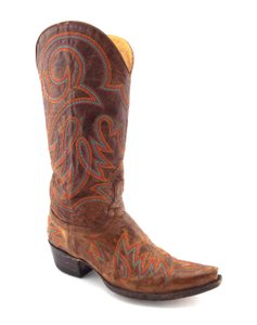 Old Gringo Embellished Cow Girl Vittoria Conifer Stitched Natural Brown Boots