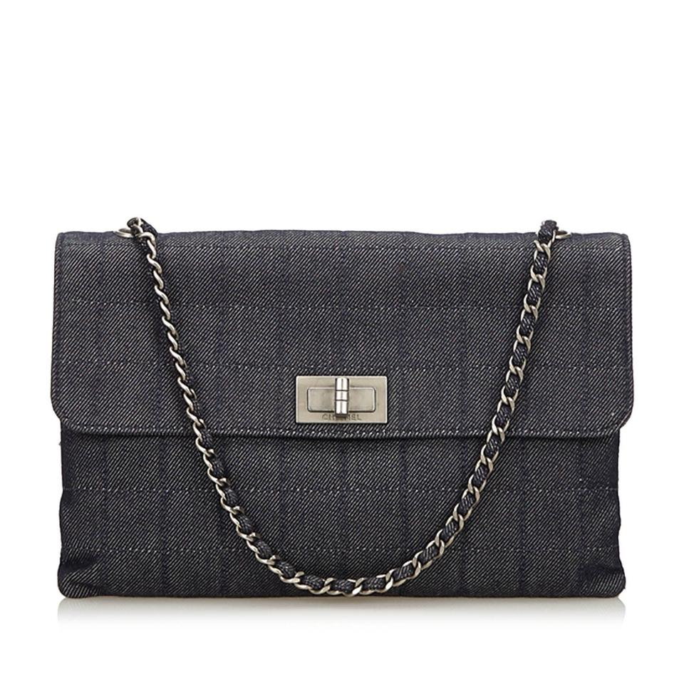 Chanel 2.55 Reissue Choco Blue Denim Shoulder Bag - Tradesy 8b0bbeaf76