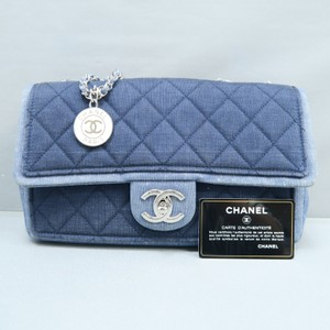 Chanel Denim Classic Flap Shoulder Bag