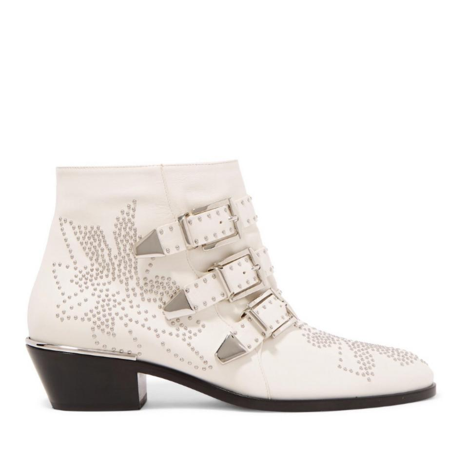 447bd7091d089 Chloé Susanna Studded Leather Ankle Boots Booties Size US 6 Regular ...