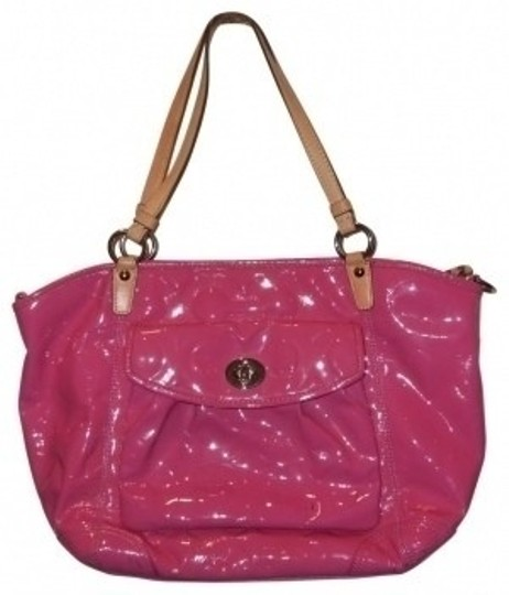 Preload https://item4.tradesy.com/images/coach-hot-pink-patent-leather-tote-24418-0-0.jpg?width=440&height=440