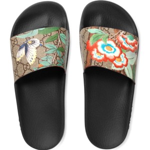 Gucci Black Brown Blue Multi Sandals