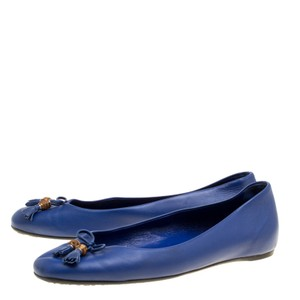 Gucci Leather Ballet Blue Flats