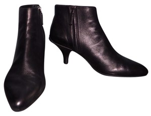 Prada Winter Leather Pointed Toe Black Boots