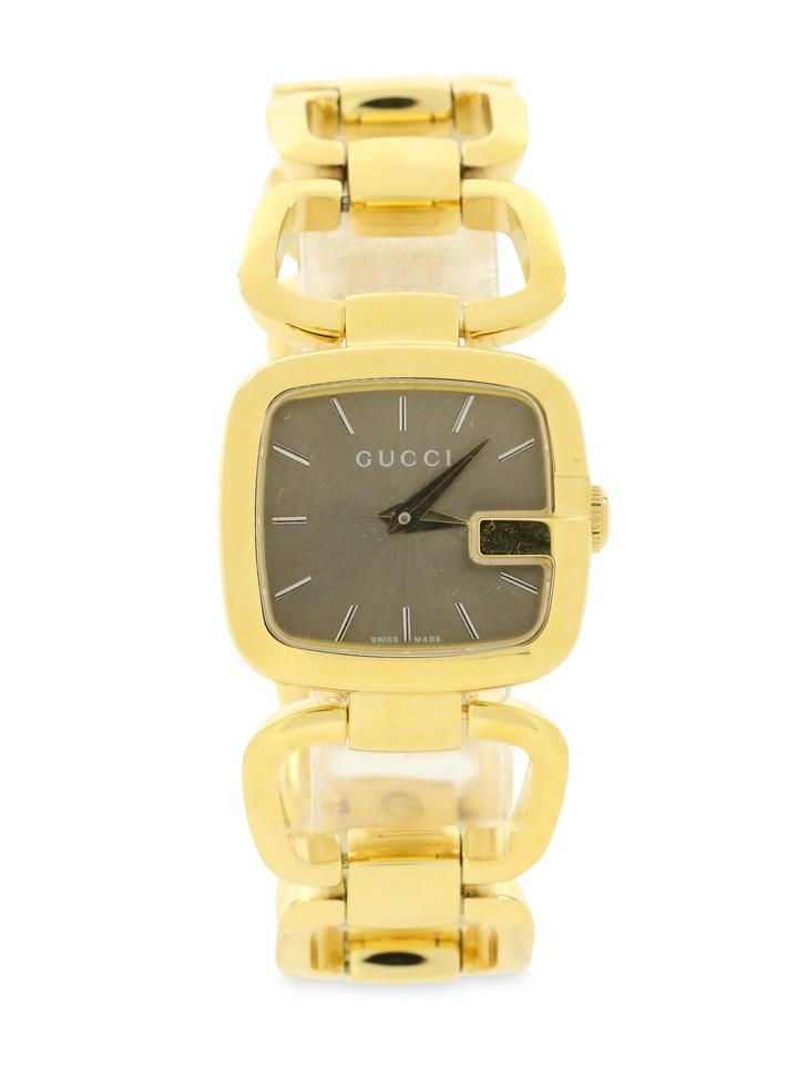 5569b2a5b9b Gucci Swiss Gold-Tone Stainless Steel Bracelet Watch Image 0 ...
