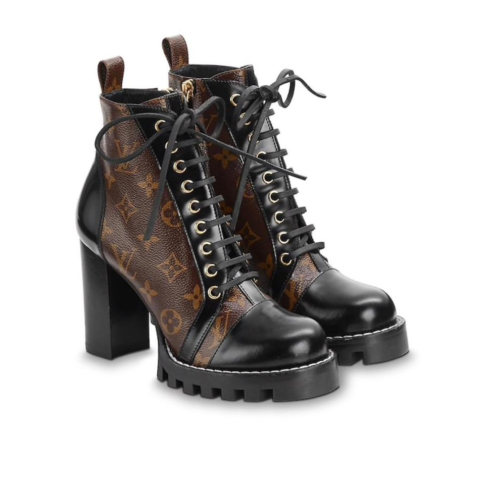 4104389243268e Louis Vuitton Brown Star Trail Ankle Boots/Booties Size EU 38.5 ...