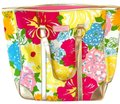 Lilly Pulitzer Beach Carry All Everyday Messenger Shoulder Tote in pink gold green