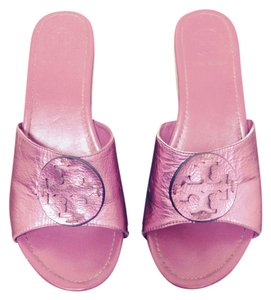 Tory Burch Metalic Pink Wedges