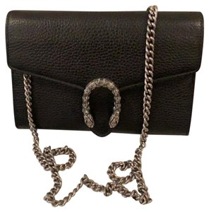 d08f1e2f5ff Added to Shopping Bag. Gucci Cross Body Bag. Gucci Dionysus Wallet On Chain  Black Leather ...