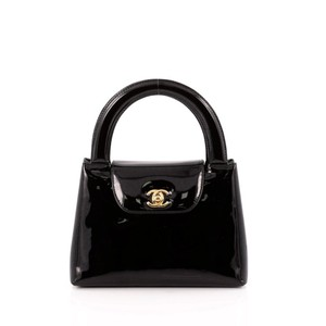 Chanel Rare Vintage Goldhardware Evening Tote in Black