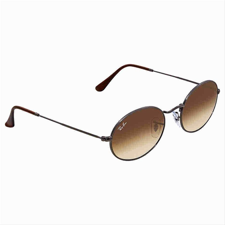 f896da5c4c5 Ray-Ban Oval Flat Lenses Gunmetal Frame   Light Brown Gradient Lens Rb3547n  004 51 Style Unisex Sunglasses