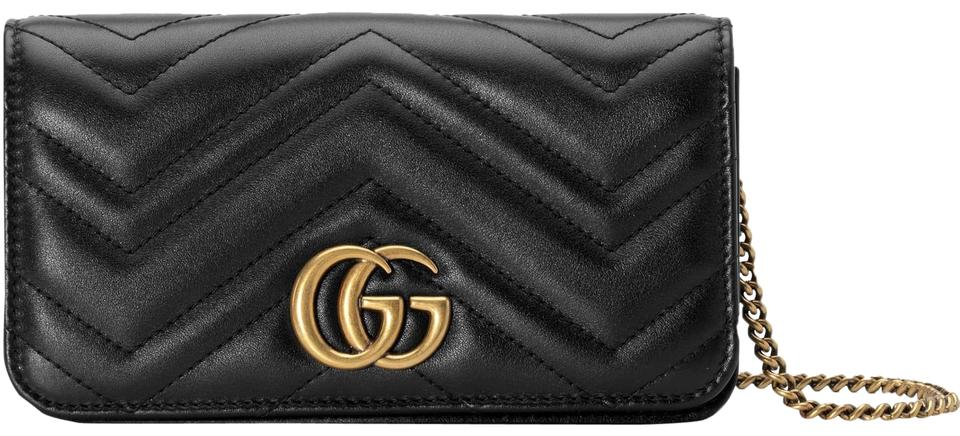 cc3215d777be Gucci Marmont Double G Marmont Quilted Mini Chain Chain Cross Body Bag  Image 0 ...