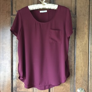 Rewind Pullover Silky Feel Patch Pocket Rounded Vented Sides Tunic