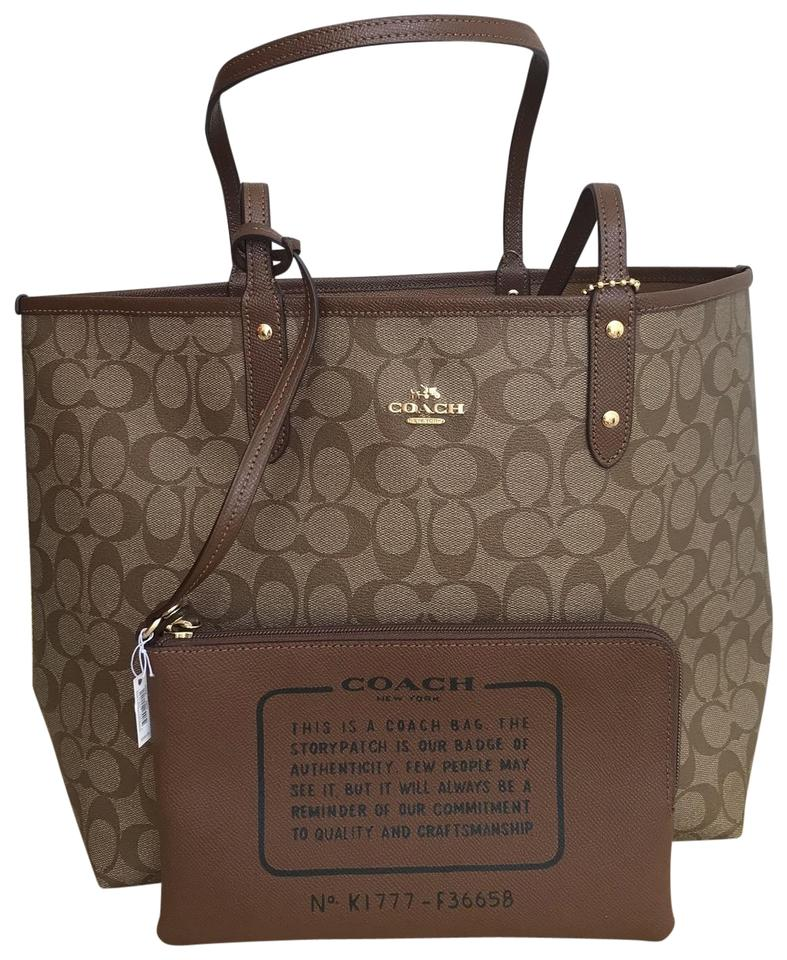ccdbe89aa6 Coach City Reversible In Signature F36658 Multicolor Coated Canvas Tote