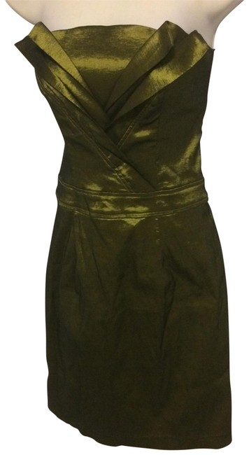Item - Iridescent Green Mid-length Cocktail Dress Size 6 (S)