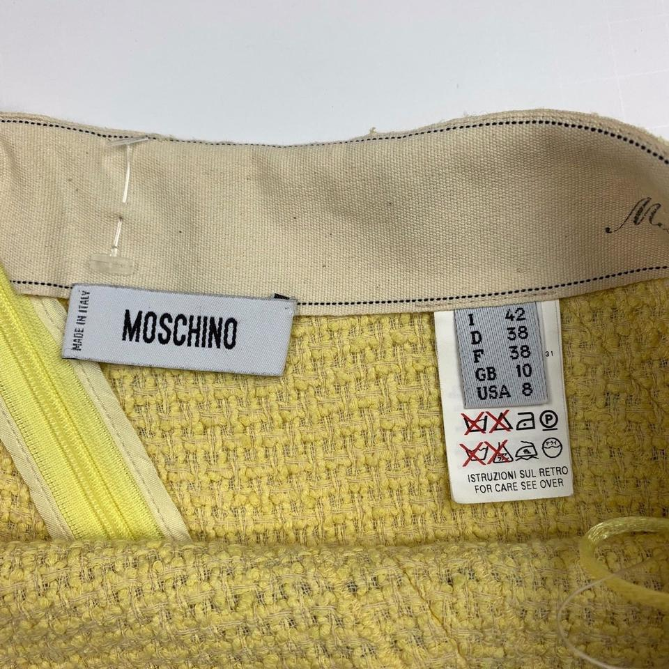 c1e9c00d6 Moschino Yellow Couture Tweed A Line Women Skirt Size 8 (M, 29, 30) 88% off  retail