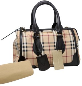 Burberry Made-in-italy Christmas-sale Haymarket Check Small Gladstone Brown  Canvas Satchel 41% off retail 74196650f8b60