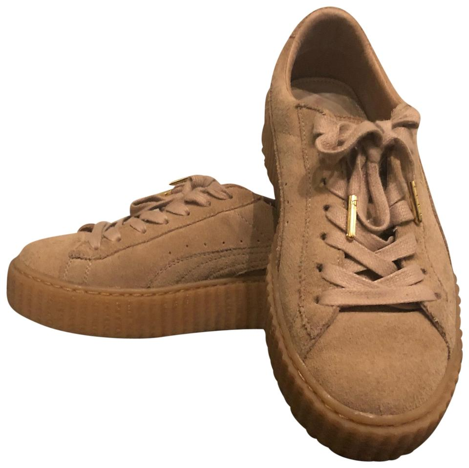 best cheap f9c3c 5fb0b FENTY PUMA by Rihanna Oatmeal/Beige Creepers Sneakers Size US 7.5 Regular  (M, B)