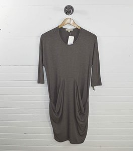 Joan Vass Casual Comfortable Fall Draped Dress