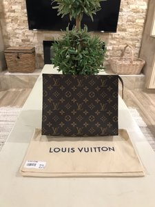 Louis Vuitton Toiletry Wallets Cosmetic Bags Zippy Pouch Brown Clutch