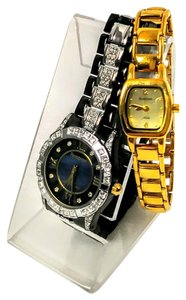 Armitron Vintage Armitron watches one black with crystals and one gold tone