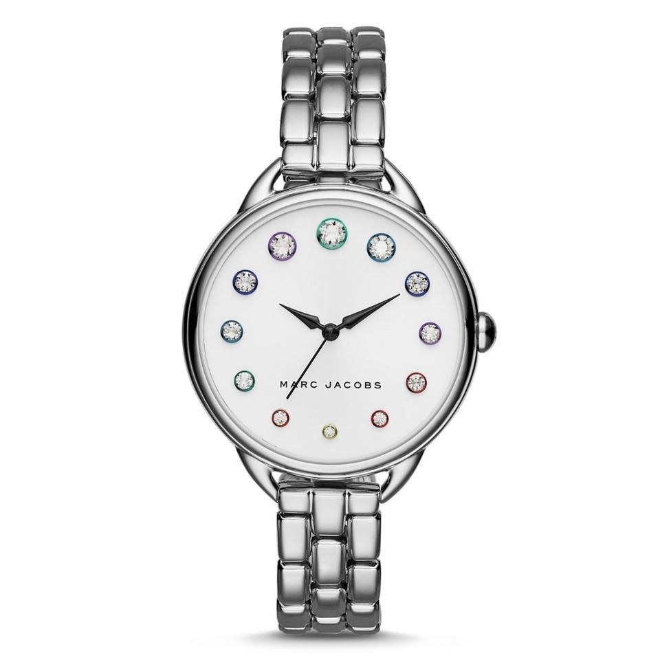 Marc Jacobs Silver Betty Rainbow Crystal Marker Three-hand Mj3541 Watch 26%  off retail