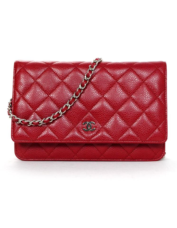 Chanel Wallet on Chain Caviar Woc Red Leather Cross Body Bag - Tradesy 706883075e5f9