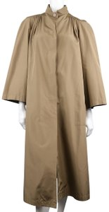 Valentino Vintage High Collar Oversized Duster Trench Coat