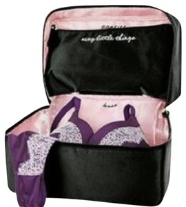 Victoria's Secret Lingerie Tote Overnight Black w/ pink trim Travel Bag