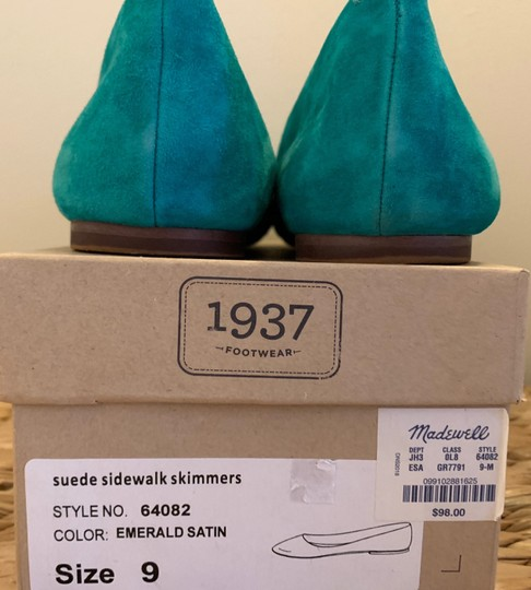 Madewell Emerald Suede Flats Image 8