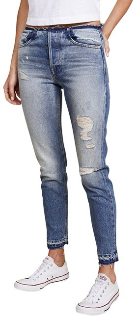 Item - Blue Distressed Rigid Re-release Horne Skinny Jeans Size 2 (XS, 26)