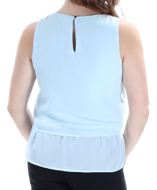 a12e3396319c Maison Jules Blue Womens New Light Jewel Neck Sleeveless M Blouse ...