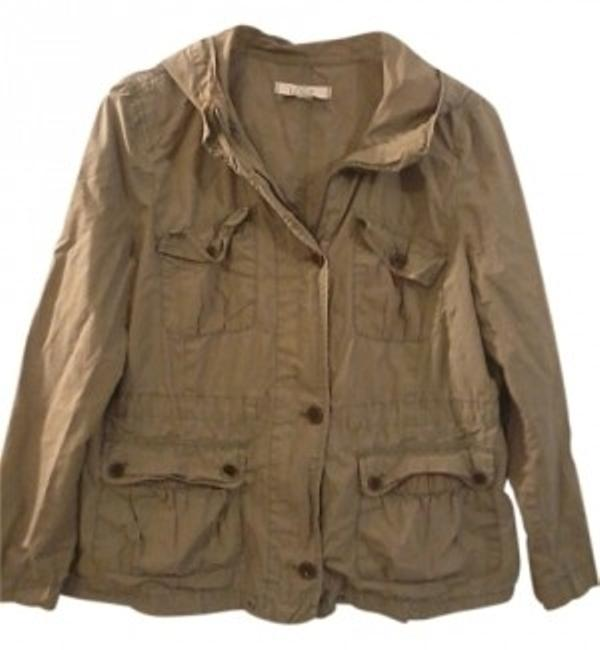 Item - Army Green Anorak Jacket Size Petite 12 (L)